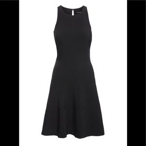 Stretch racer back fit and flare dress